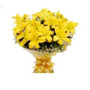 Flower Bouquet -  Grand Yellow Lily