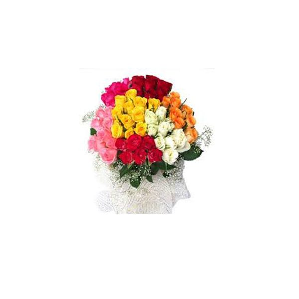 bunch of 40 roses with cloth packing  1