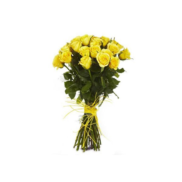 bunch of 12 white and yellow roses and chocolates  1